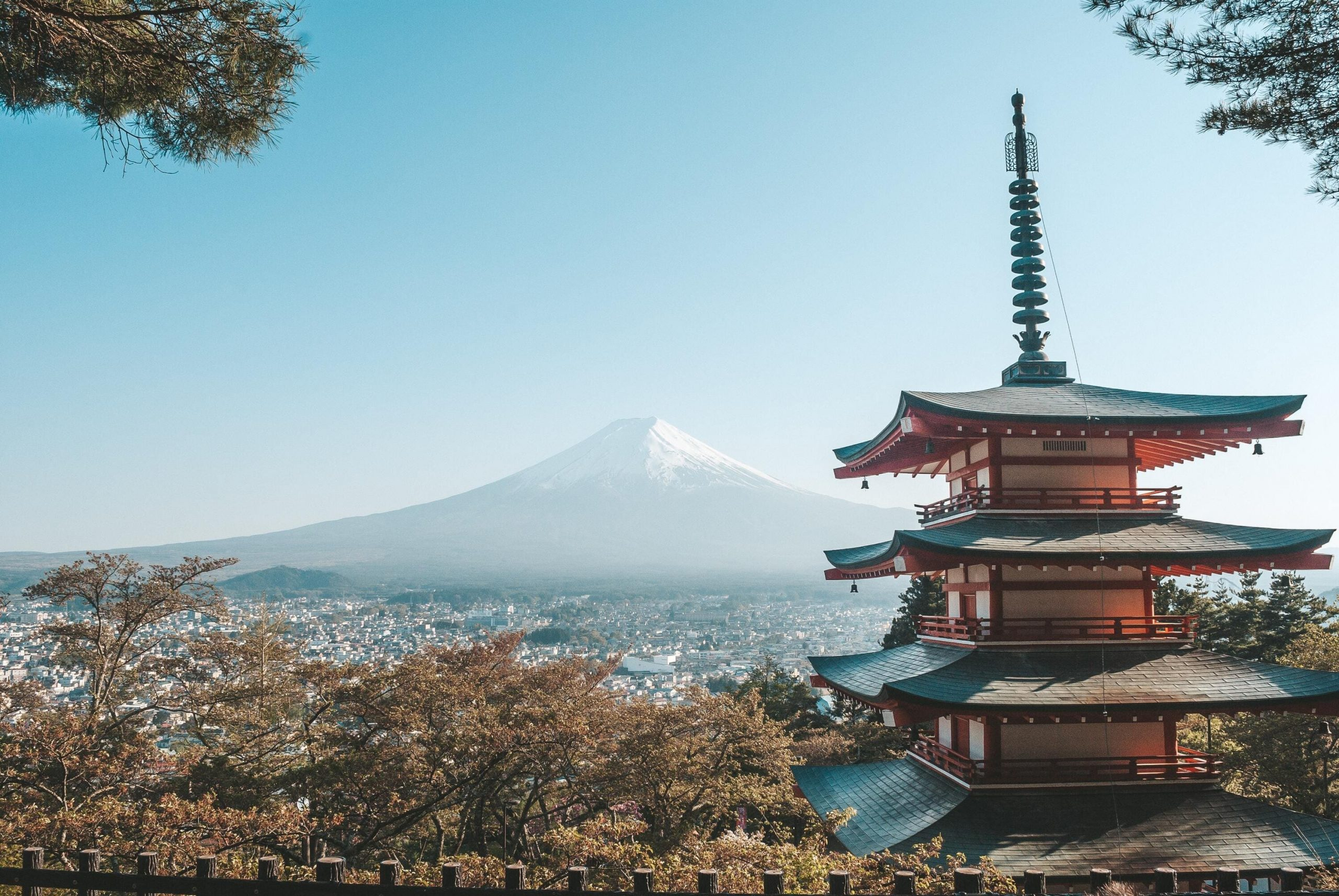 Mt Fuji and temples   Escorted Japan Tours with Kintetsu
